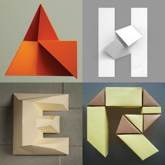 paper folding typography
