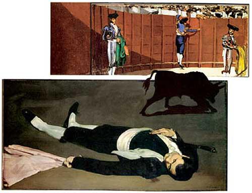 Reconstrucción de Susan Grace Galassi y Ann Hoenigswald (MOMA-NY) de los dos cuadros de Manet.