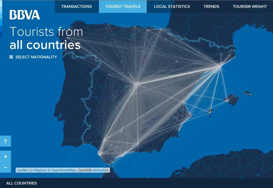Mapa interactivo del Turismo en España