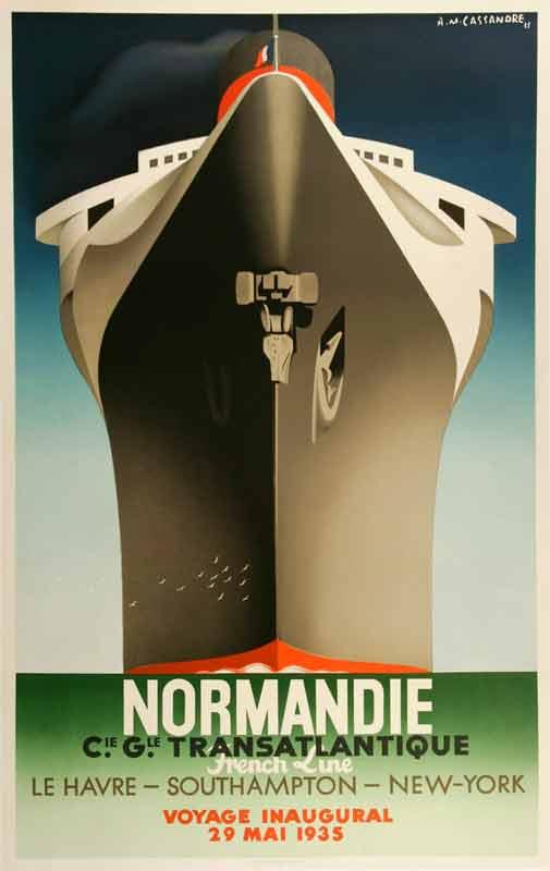 Cartel de Cassandre. Normandia