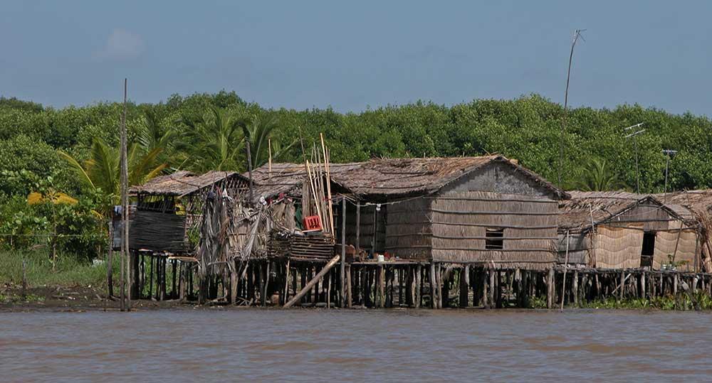 Palafitos en el Lago Maracaibo. Venezuela.