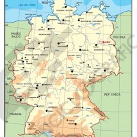 Mapa vectorial editable de Alemania