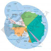 Mapa vectorial editable del continente Antàrtico
