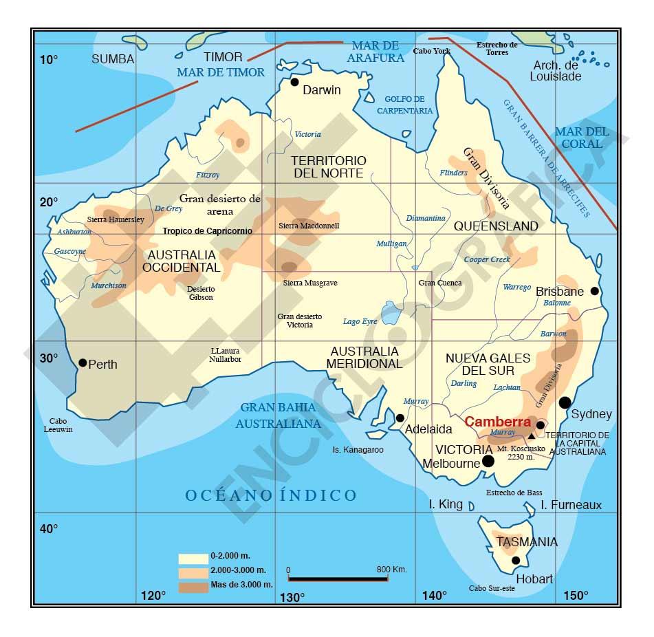 Mapa vectoria de Australia