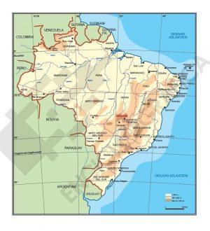 Mapa vectorial de Brasil