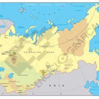 Mapa de la Comunidad de Estados Independientes (CEI)
