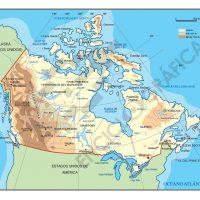 Mapa vectorial de Canada