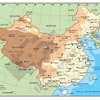 Mapa vectorial editable de China