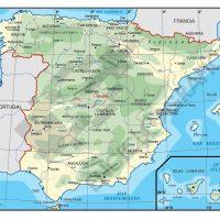 Mapa vectorial editable de España