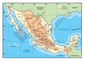Mapa vectorial de Mexico