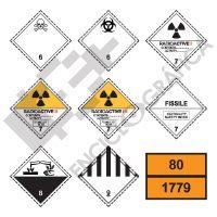Etiquetas de Señalización de Mercancías Peligrosas
