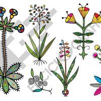 Flores creativas para bordados