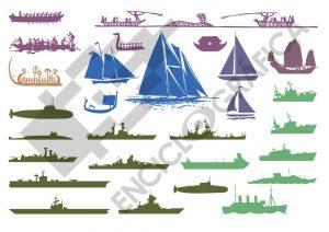Siluetas de barcos
