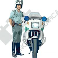 Motorista de la Guardia Civil