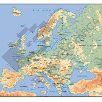 Mapa de los Ríos de Europa