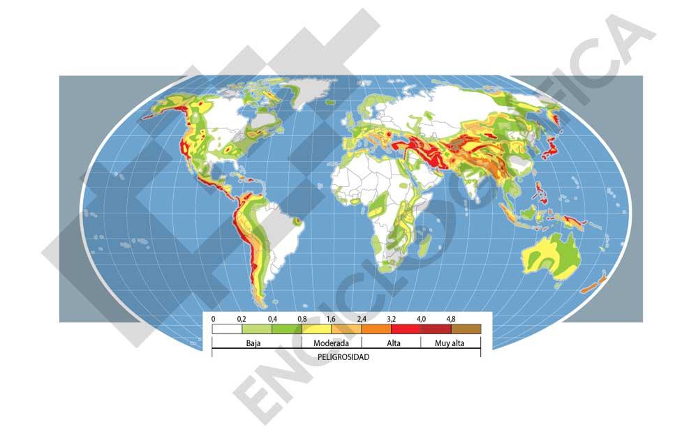 Mapa sísmico del Mundo