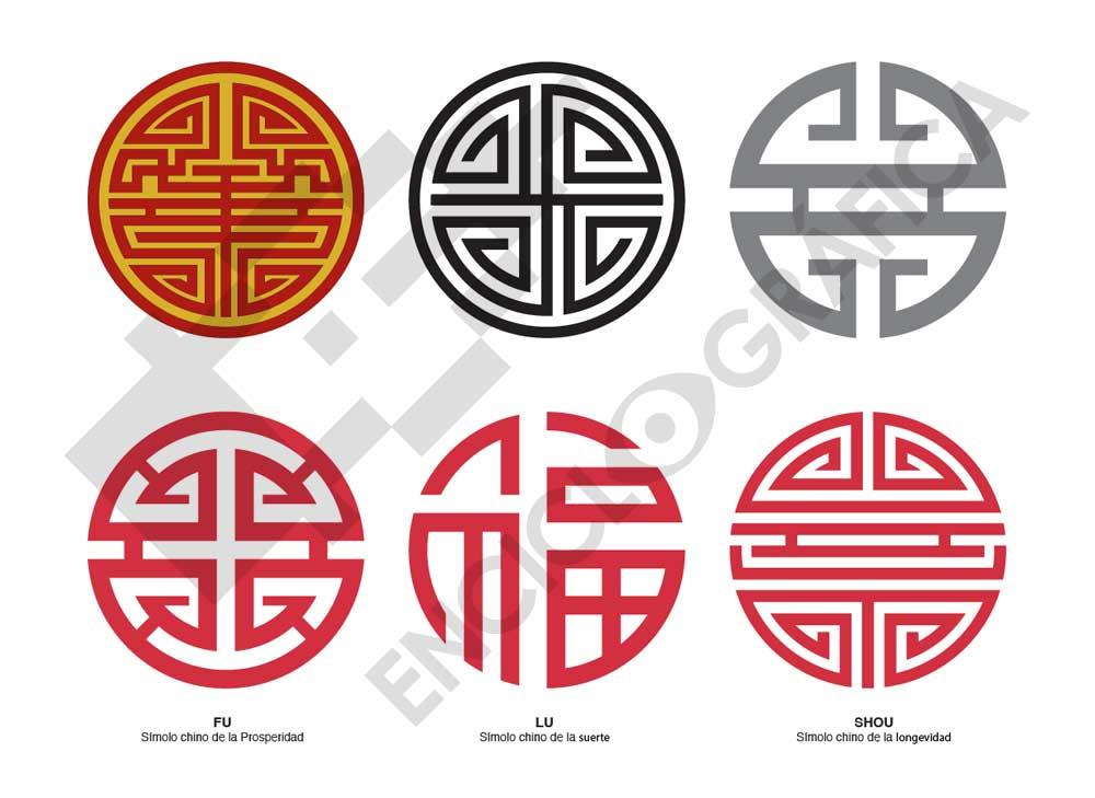 Chinese Symbols Fu Lu Shou