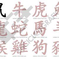 Zodiaco chino. Ideogramas