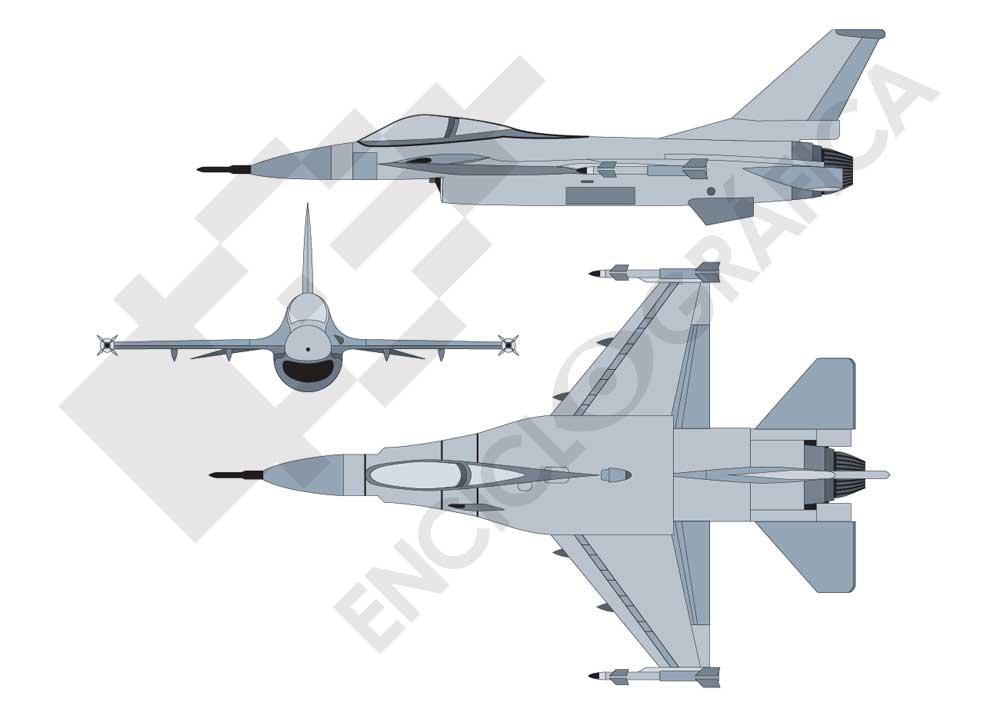 Avión de combate F16