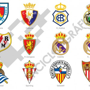Spanish Football Clubs Shields LPF 20132014