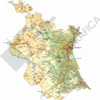Mapa editable de Valencia