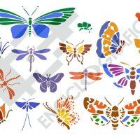 Mariposas. Plantillas para stencil