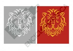 Cabeza de león. Mosaico
