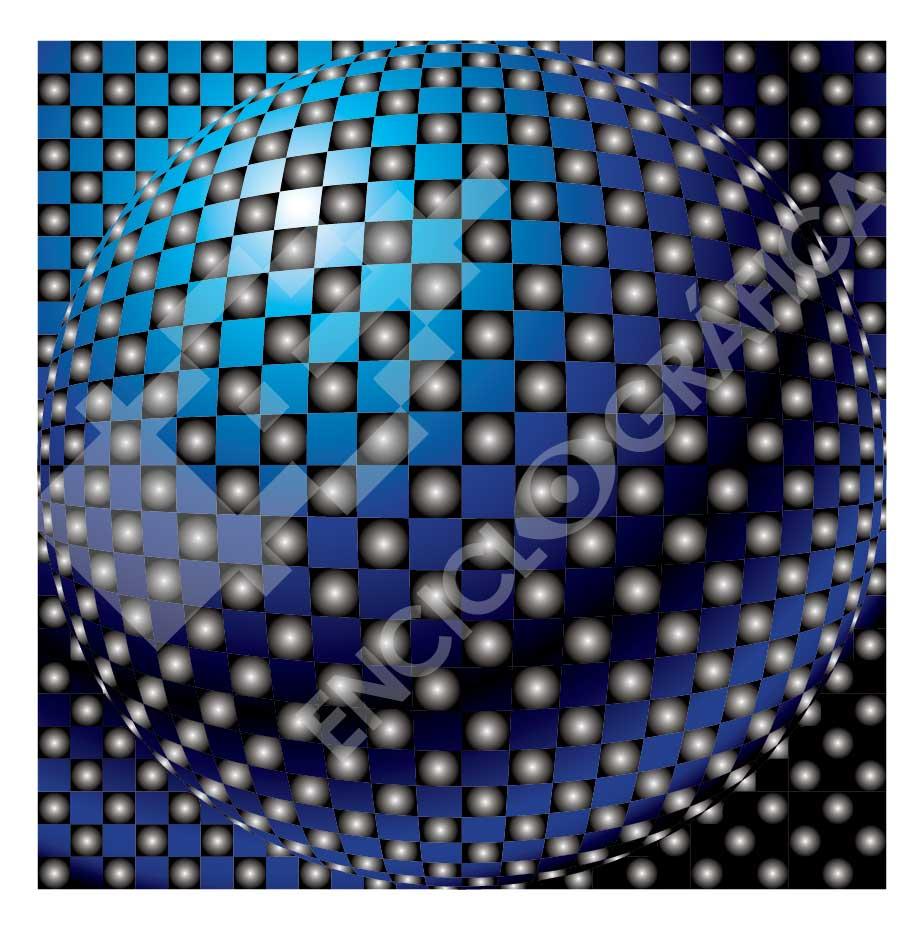 Fondo modular de esferas
