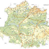 Mapa vectorial de Caceres