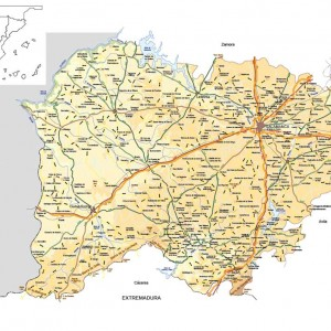 Mapa vectorial editable de Salamanca