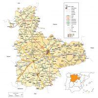 Mapa vectorial editable de Valladolid