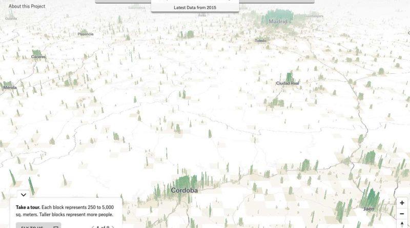 Big Data.Visualizando la población mundial, en 3D.