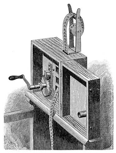 Cinematógrafo Lumière creado para la proyección, 1895-1896