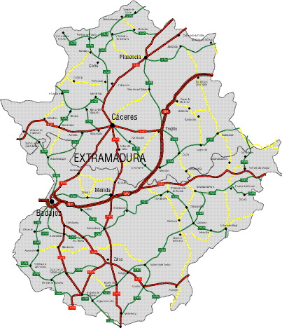 Mapas básicos de carreteras por CC.AA.