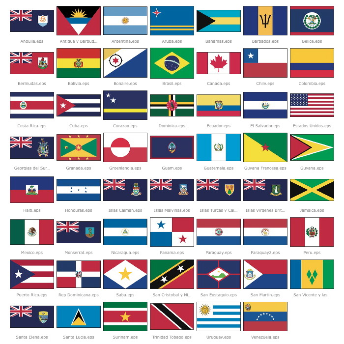 Banderas de América -