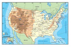 Mapa vectorial de Estados Unidos de América