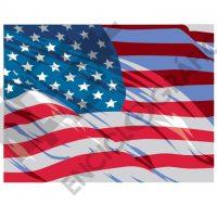 Bandera US ondeante