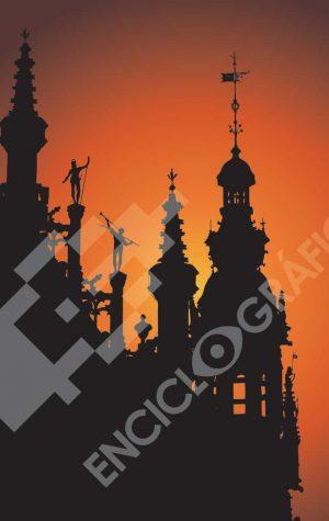 Ayuntamiento en la Grand Place de Bruselas