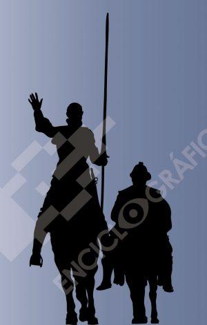 Don Quijote y Sancho. Madrid