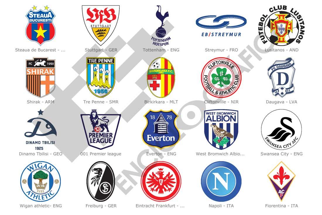 Escudos De Equipos De Fútbol Europeos Uefa Estudio De Sitographics