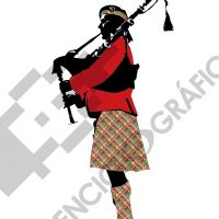 Escocés con gaita