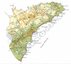 Editable vector map of Alicante