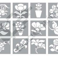 Flores para stencil