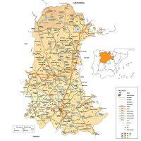 Mapa vectorial editable de Palencia