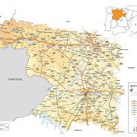Mapa vectorial editable de Zamora